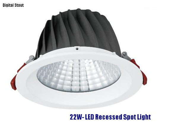 FRATER 22W- LED Recessed Spot Light