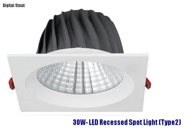 FRATER 30W- LED Recessed Spot Light (Type2)