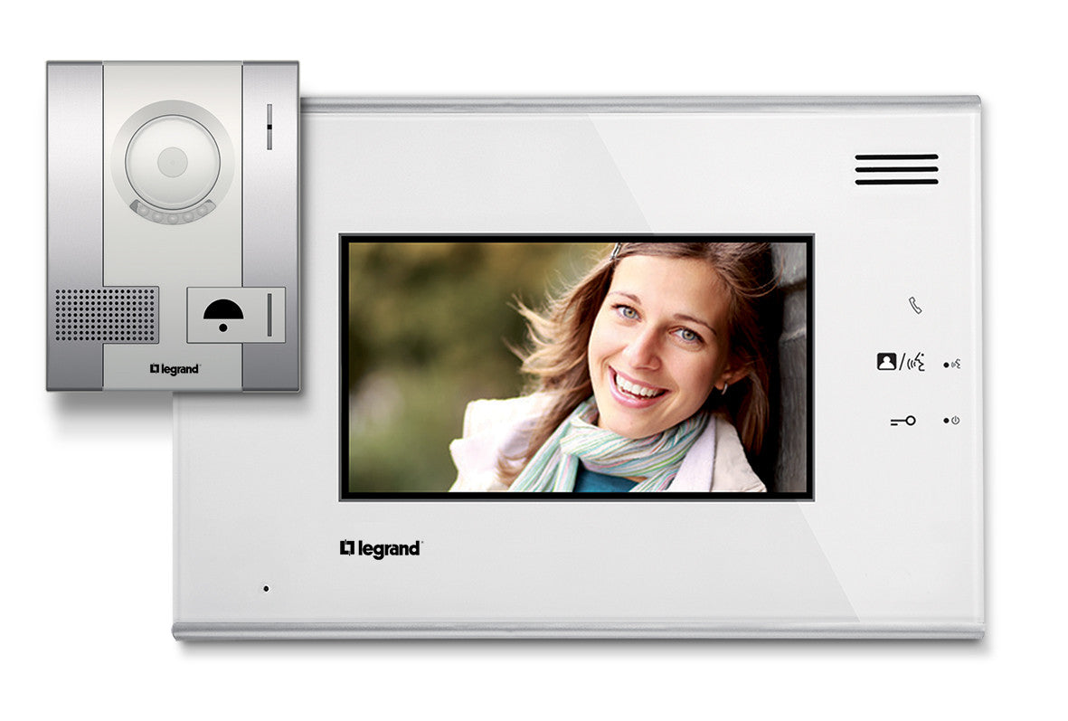 Legrand Door Entry 7 Colour Video Kit With Handsfree Monitor Pushbu