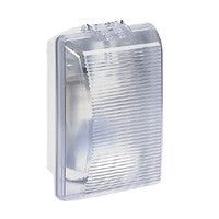 Bulkhead light IP 54 - IK 08 Rectangular-75W incandescent clear