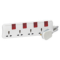LEGRAND MULTI-OUTLET EXTENSION - 4 X 2P+E - 3M MS