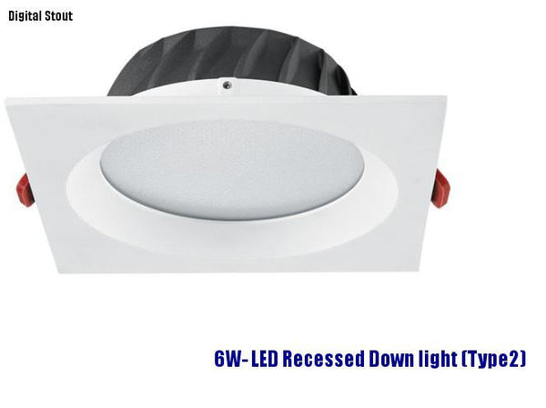 FRATER 6W- LED Recessed Down light (Type2)