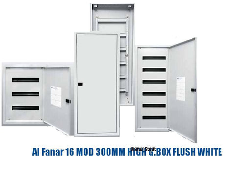Al Fanar 16 MOD 300MM HIGH G.BOX FLUSH WHITE - Digital Stout