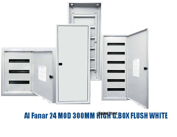 Al Fanar 24 MOD 300MM HIGH G.BOX FLUSH WHITE