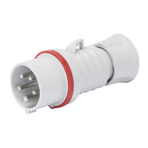 GEWISS STRAIGHT CONNECTOR - 3P+N+E 32A -RED