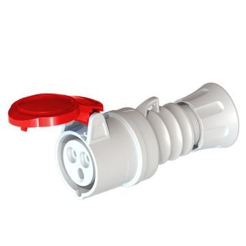 GEWISS GW62008H STRAIGHT CONNECTOR - 3P+E 16A -RED IP44