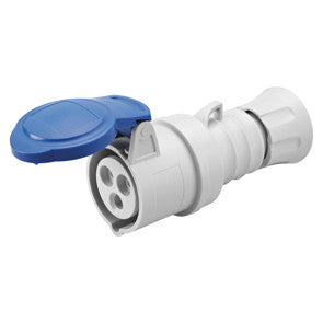 GEWISS STRAIGHT CONNECTOR - 2P+E 32A -BLUE