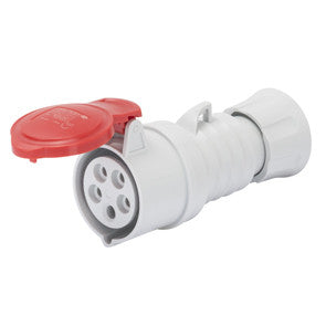 GEWISS STRAIGHT CONNECTOR - 3P+E 32A -RED IP44