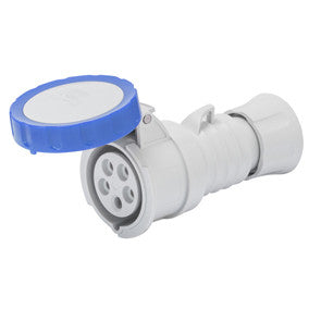 GEWISS STRAIGHT CONNECTOR - 2P+E 16A IP67 -BLUE