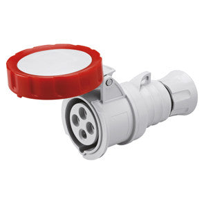 GEWISS STRAIGHT CONNECTOR - 3P+E 16A IP67-RED
