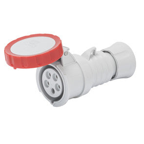 GEWISS STRAIGHT CONNECTOR - 3P+N+E 16A IP67-RED