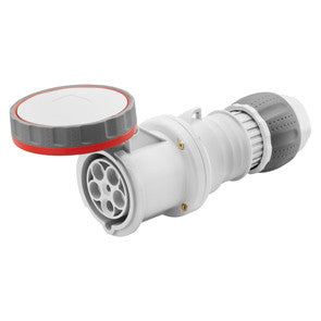 GEWISS STRAIGHT CONNECTOR - 3P+N+E 63A -RED