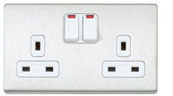 MK 13A 2G DP SWITCH SOCKET OUTLET, DE AND NEON