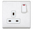 MK 13A 1G DP SWITCH SOCKET OUTLET, DE AND NEON