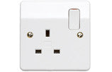MK K2757SAWHI 13A 1G DP SWITCHSOCKET DE-TERMINALS