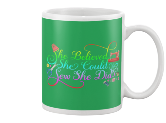 Sewing She Did Mug - I Love Quilting Forever - 5