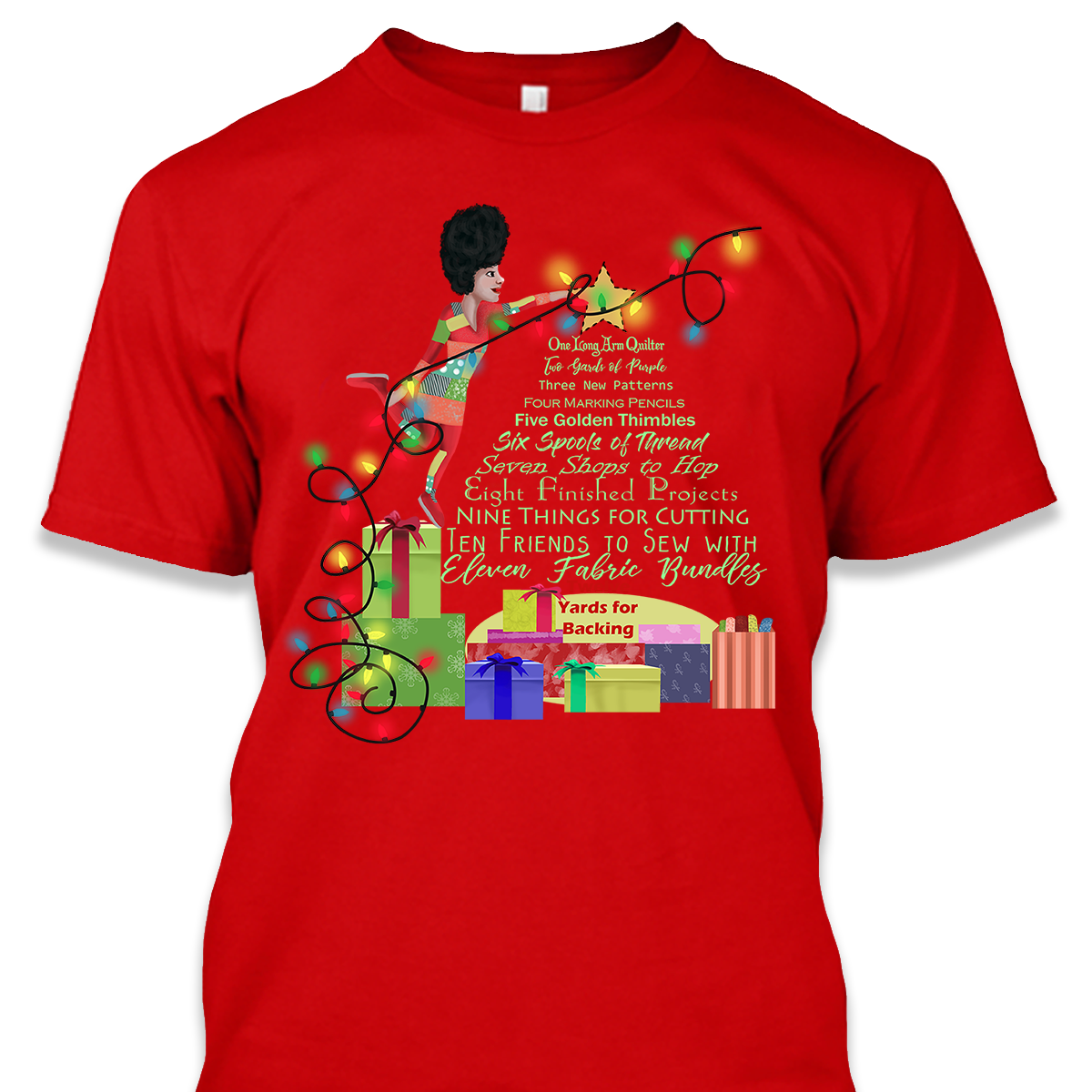 12 Days Quilting Christmas Shirt
