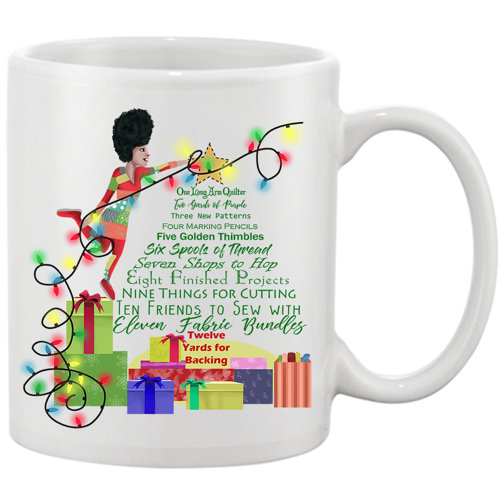 12 Days Quilting Christmas Mug