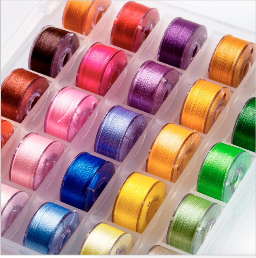 25 Pre-Wound Bobbins (with case) (Buy 1 Get 1 Free)