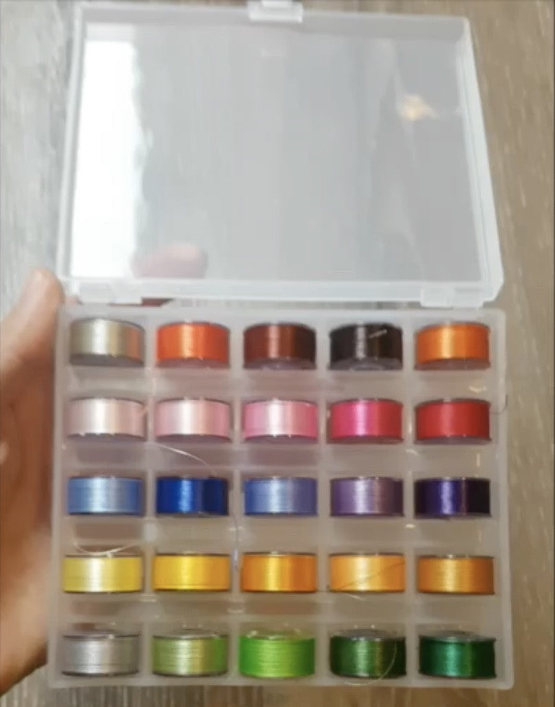 25 Pre-Wound Bobbins (with Case) (Sold Out)
