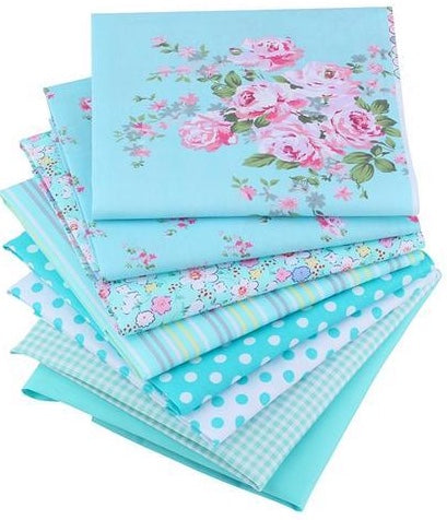 "8pcs Victoria ""Extra Fat"" Fat Quarter Cotton Fabric"