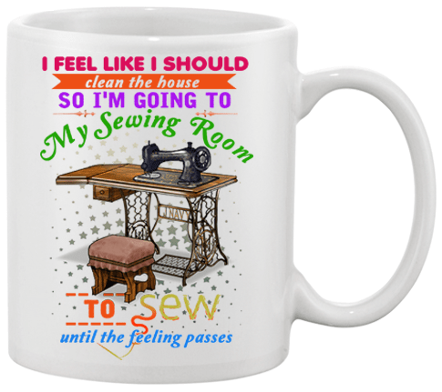 Sewing Clean Mug Design - I Love Quilting Forever