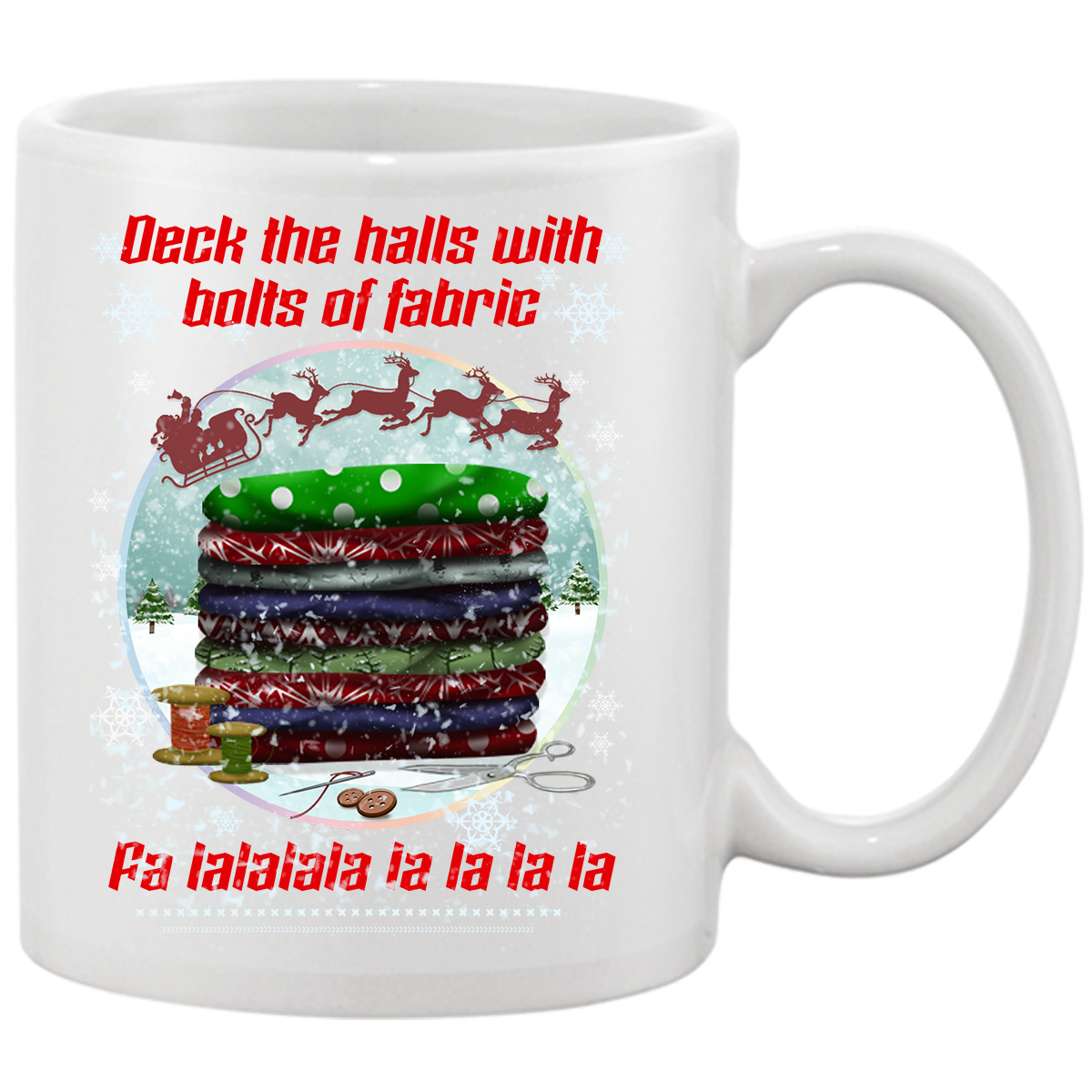Deck The Halls Christmas Mug