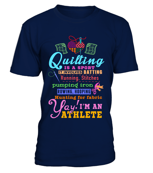 Quilting Athlete Shirt - I Love Quilting Forever - 1