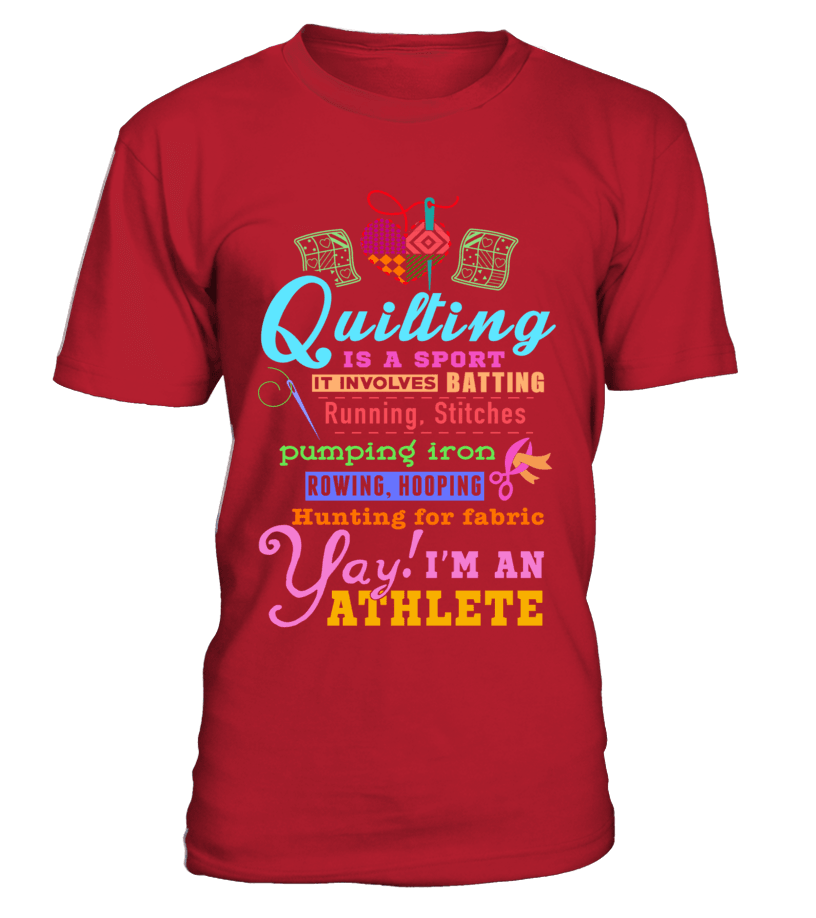 Quilting Athlete Shirt - I Love Quilting Forever - 5