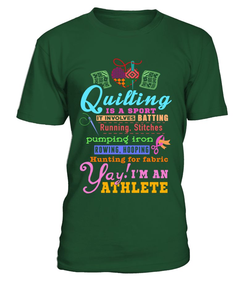 Quilting Athlete Shirt - I Love Quilting Forever - 16
