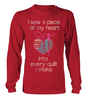 Quilting Piece Heart Shirt - I Love Quilting Forever - 10