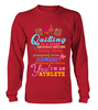 Quilting Athlete Shirt - I Love Quilting Forever - 6