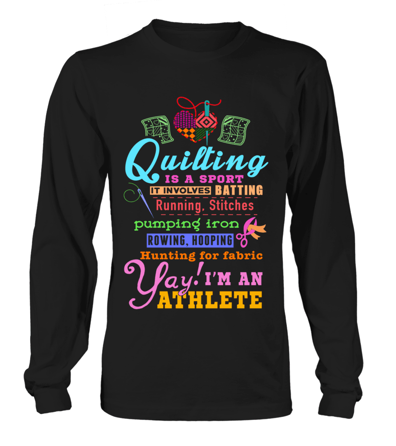 55415f9f ... Quilting Athlete Shirt - I Love Quilting Forever - 2 ...