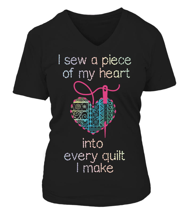 Quilting Piece Heart Shirt - I Love Quilting Forever - 8