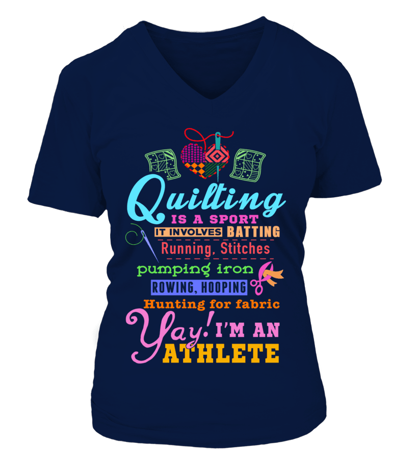 Quilting Athlete Shirt - I Love Quilting Forever - 12