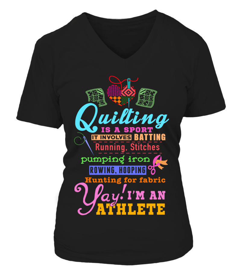 Quilting Athlete Shirt - I Love Quilting Forever - 4