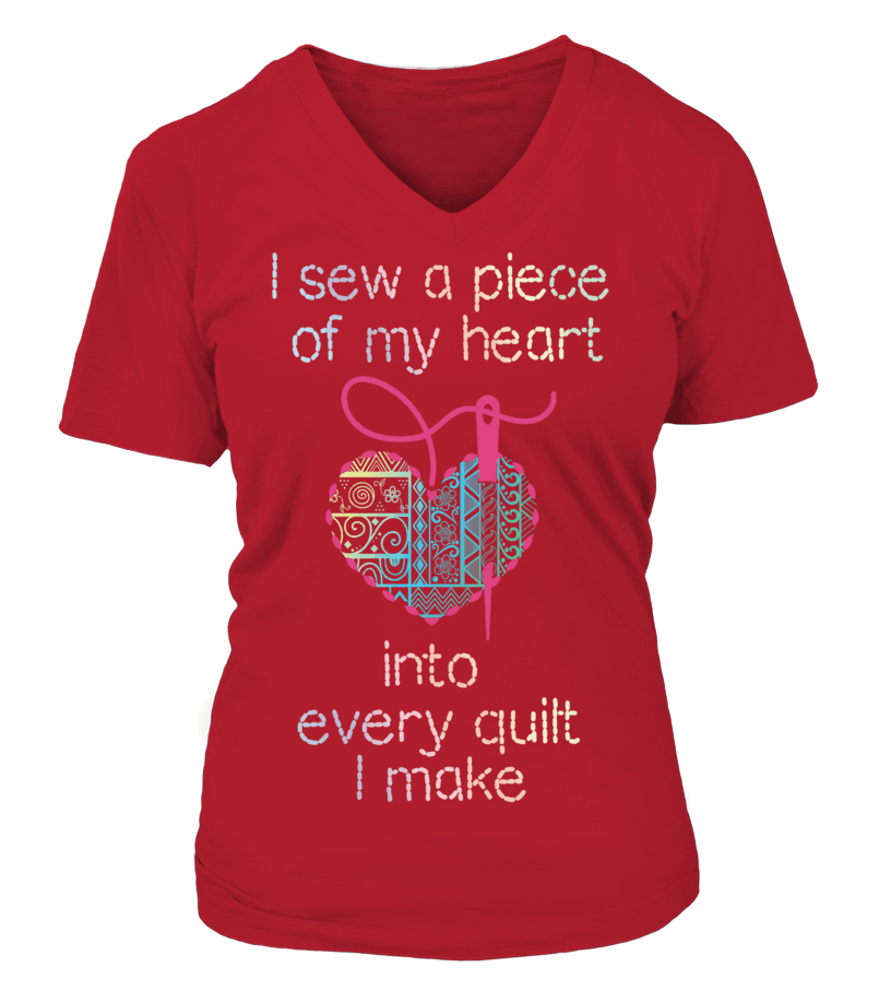 Quilting Piece Heart Shirt - I Love Quilting Forever - 12