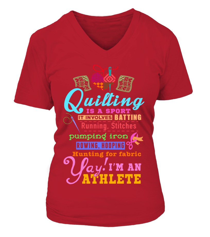 Quilting Athlete Shirt - I Love Quilting Forever - 8
