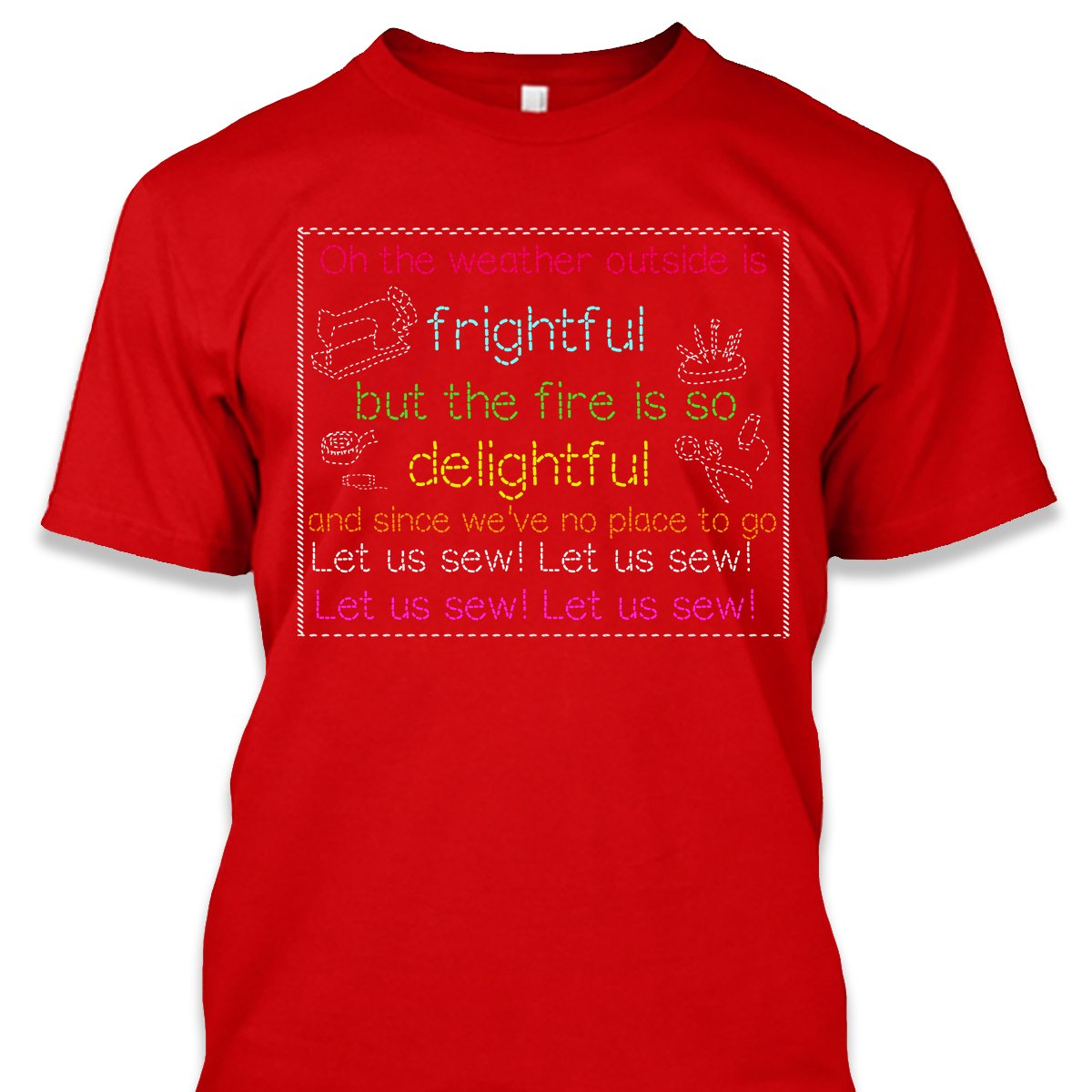 Let Us Sew Christmas Shirt