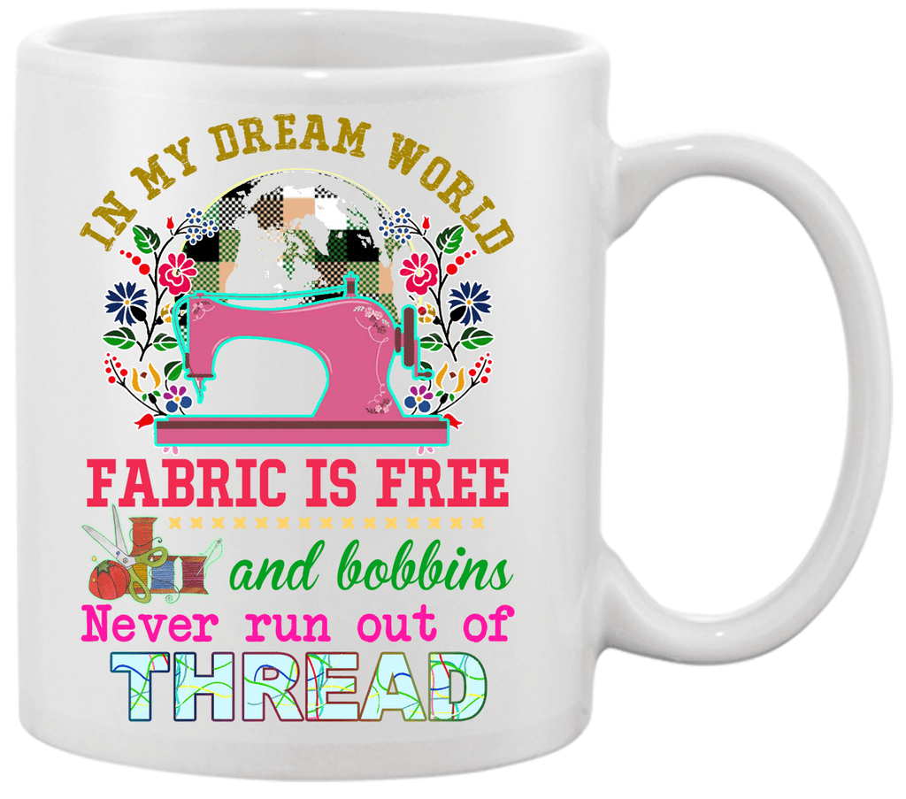 Sewing Dream Bobbin Mug - I Love Quilting Forever