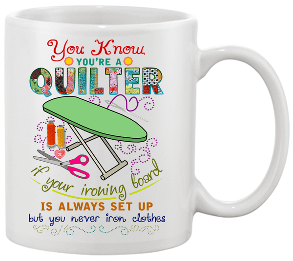 Quilting Ironing Board Mug - I Love Quilting Forever