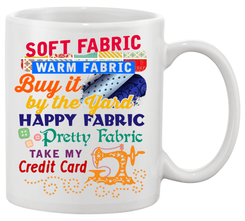 Sewing Credit Card Mug - I Love Quilting Forever