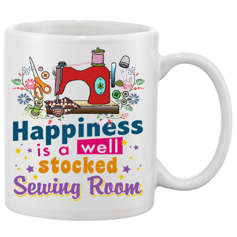 Sewing Stocked Mug - I Love Quilting Forever