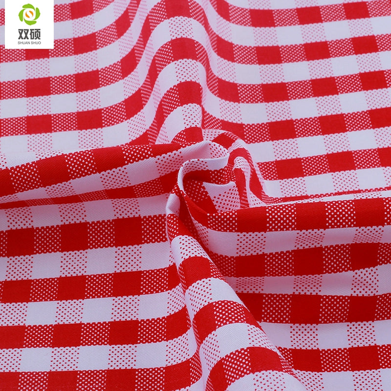 "7pcs Red ""Extra Fat"" Fat Quarters Cotton Fabric"