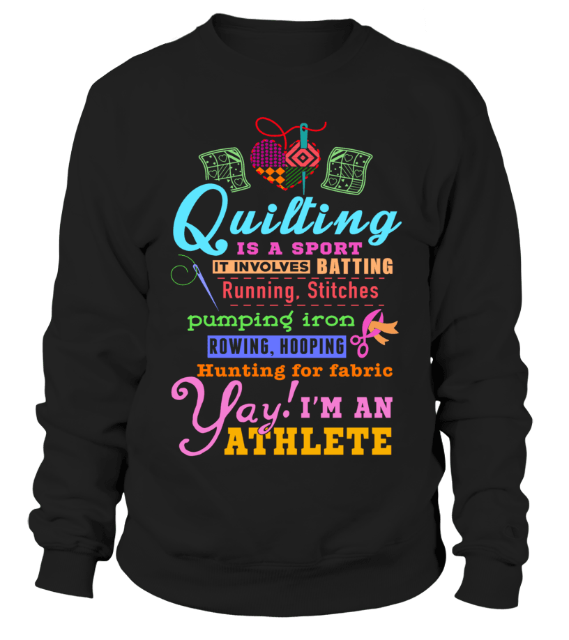 Quilting Athlete Shirt - I Love Quilting Forever - 3