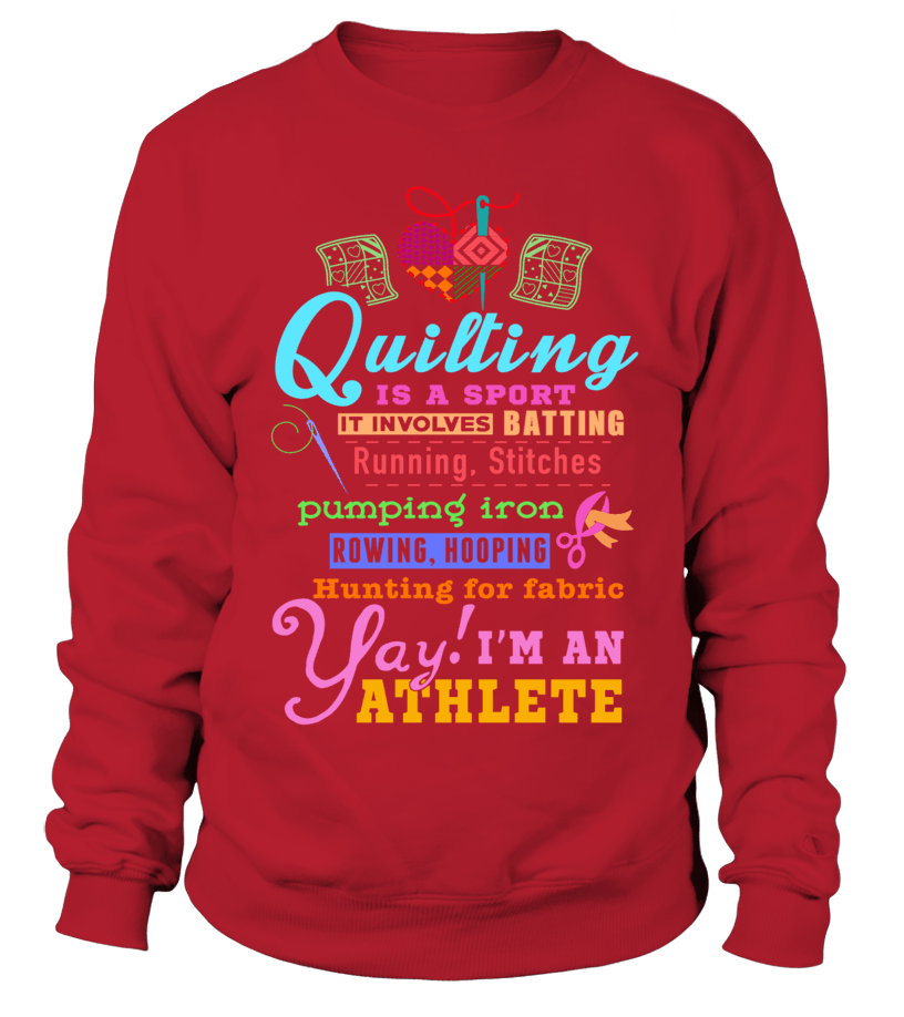 Quilting Athlete Shirt - I Love Quilting Forever - 7