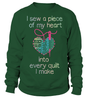 Quilting Piece Heart Shirt - I Love Quilting Forever - 14