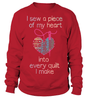 Quilting Piece Heart Shirt - I Love Quilting Forever - 11