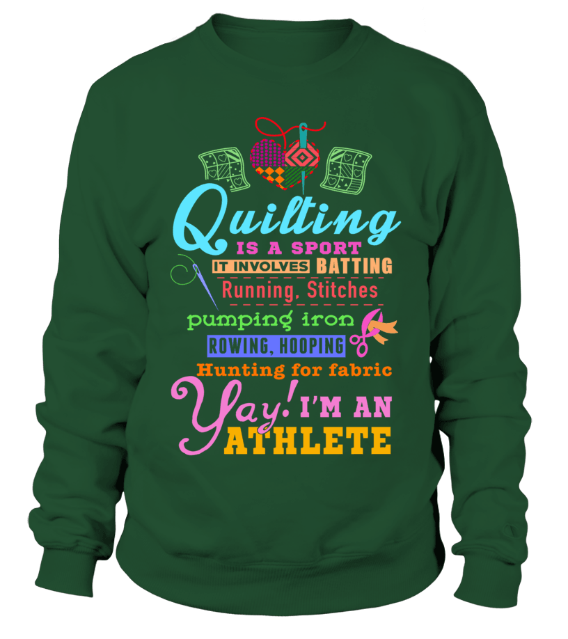 Quilting Athlete Shirt - I Love Quilting Forever - 17