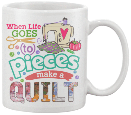 Quilting Pieces Mug - I Love Quilting Forever